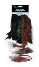JENZI Fliegen FLY-TYING Capes + Hackles Nature Balge Set Natur