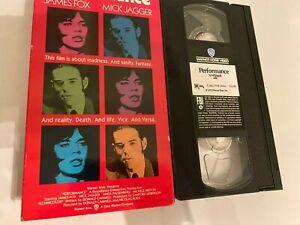 Performance VHS 1970 Starring James Fox  Mick Jagger  Anita Pallenberg Warner Br