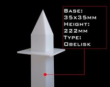 Obelisk mold, 35mm base, Egyptian obelisk, Self Lubricating HDPE