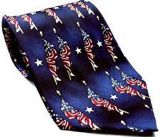 American Flag Old Glory Patriotic Stars Stripes Men's Novelty Silk Tie