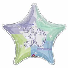 30th Birthday Age 30 Shimmer Prismatic Foil Helium Balloon