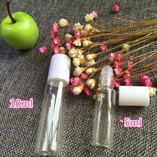 5pcs 5/10 ml en verre vide boule d'aromathérapie Roll-on bouteilles récipien R#