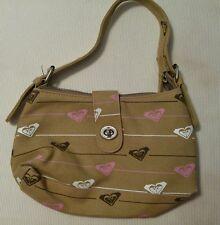 Roxy Bag Purse Handbag Small MINT condition EUC shoulder zipper buckle adjusts