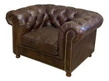 Timothy Oulton Button and Tufted Leather Chair Teacup Dog Bed