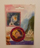 DISNEY FROZEN OLAF & KRISTOFF CLOTH EMBROIDERED APPLIQUE PATCH IRON ON / SEW ON