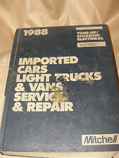 MITCHELL 1988 IMPORTED CARS LIGHT TRUCKS & VANS SERVICE REPAIR TUNE-UP ELECTRIC