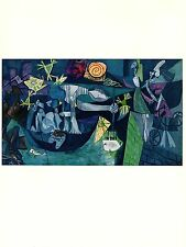 "1964 Vintage PICASSO ""NIGHT FISHING AT ANTIBES"" FABULOUS COLOR offset Lithograph"