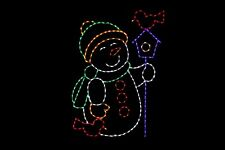 Home Tweet Home Snowman Led light display metal wireframe winter outdoor decor
