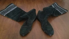 NUMBER (N)INE 2007AW Tall Suede Leather Wool Boots Black Size 10 FIT US 11 EU 44