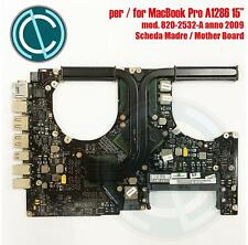 """SCHEDA MADRE APPLE MACBOOK PRO A1286 15"""" 2009 MOTHER BOARD 820-2532-A 2,66GHZ"""