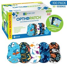 Infants Extra Sensitive Adhesive Eye Patch Boys 100 Pack Series II OPTHOPATCH
