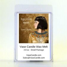 2 Egyptian Musk Vase Candle 2.8 oz Premium Highly Scented Wax Melts 50 Hours