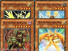 Phantom Beast Set Thunder-Pegasus Wild-Horn, Cross-Wing, Rock-Lizard GLD2 YUGIOH