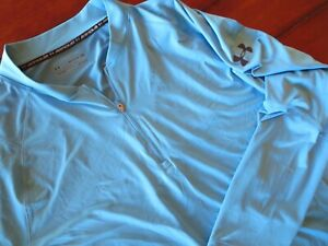 Mens Under Armour 3XL 1/4 Zip TOP Blue Shirt FITTED
