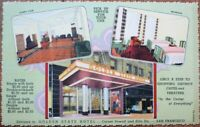 San Francisco, CA 1940s Linen Postcard: Golden State Hotel - California Cal