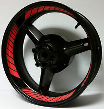 DARK ORANGE RED CUSTOM INNER RIM DECALS WHEEL STICKERS STRIPES TAPE GRAPHICS KIT