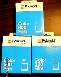 POLAROID 600 COLOR INSTANT FILM 4670 TRIPLE PACK  BRAND NEW SEALED FOR 600 TYPE!