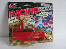 VTG NASCAR Ford Racing Geoff Bordine Transporter with mini car, in package NOS