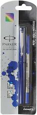 2x New Parker Beta Standard Roller Ball Pen Chrome Trim Blue Free Shipping