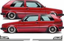 VW MK2 Golf  retro side stripes decal Sticker 16V Syncro any colour Gti