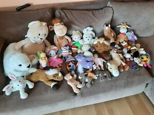 Sammlung Stofftiere Steiff Teddy Esel etc