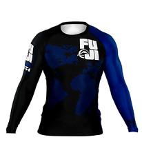 Fuji Sports Sekai 2.0 IBJJF BJJ Jiu Jitsu Long Sleeve LS Rashguard - Blue Ranked