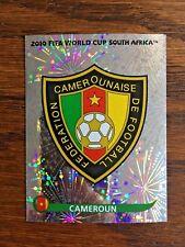 CAMERON CAMEROUN TEAM PANINI FOIL STICKER, WORLD CUP SOUTH AFRICA 2010 #SA392