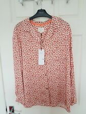 NEXT  WOMENS   ANIMAL PRINT BUTTON THROUGH   PYJAMA TOP ONLY  SIZE 12 BNWT