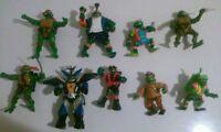 Nice Lot of 9 used teenage mutant ninja turtles figures toys boys girls TMNT