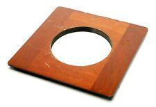 "Deardorff 8x10"" Style Wooden Lens Board 5,5x5,5"" (140x140mm) With Hole 79mm. Ex."