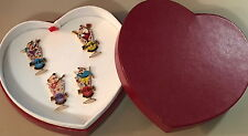 Hard Rock Cafe KOBE 2001 Valentine's Day 4 PINS in Box CUPIDS LE 200! HRC #4004