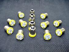 15 BRIGHT Yellow LED Instrument Panel Dashboard Light Bulbs BA9S 1895 1815 Mopar