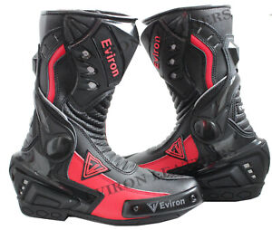 EViron Motorcycle Motorbike Leather Boots Rossi Multi colour VR Waterproof
