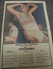 Vintage Tina Turner Zoo World Calendar, 1974, Rock and Roll!
