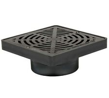 """Storm Drain FSD-044-SCB 6"""" Square Bottom Outlet Drain Grate"""