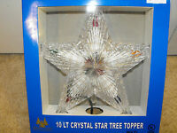"""10 Light Star Tree Topper 8.5"""" Prism Effect Multi Color - View From Both Sides"""