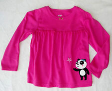 Carter's Girls Super Comfy Ruffled Pink Long Sleeve Pajama Top size 4 NWT G82205