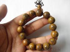 1.5cm Buddhist Monk Sandalwood Shaolin Temple Prayer Mala Beads