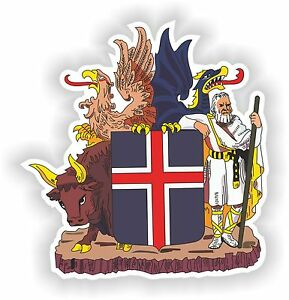 Iceland Coat of Arms Sticker Bumper Decal Car Helmet Laptop Door Fridge Caravan