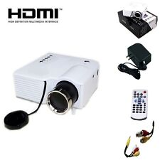 US Plug UC28 PRO HDMI Portable Mini LED Projector Home Cinema Theater AV VGA USB