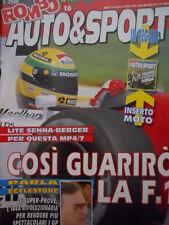 ROMBO 16 1992 Test Ducati DR800S - Lite Senna Berger per Mc Laren MP4/7