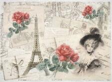 Papel De Arroz Para Decoupage, Scrapbook Hoja, París y amor