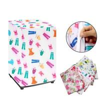 New Floral Waterproof Washing Machine Zippered Dust Cover Protection Durable GA