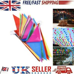 1pcs 100M Triangle 150 Flags Bunting Banner Pennant Festival,Wedding,Party Decor