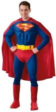 Superman Mens Costume SZ L with Muscles DC Comics Superhero Plus Size