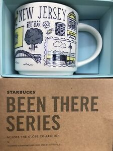 Starbucks Coffee Been There Series 14oz Mug NEW JERSEY Cup w/SKU