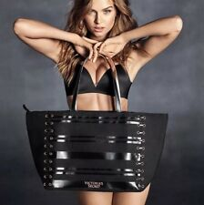 NWT Victoria's Secret VS Black Large Weekender Shoulder Bag Tote Lace Up