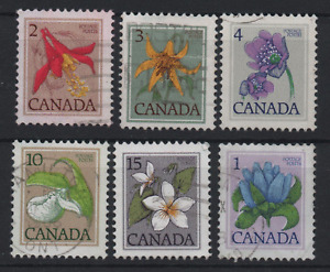 CANADA----- Flowers,   6 pcs.  Used