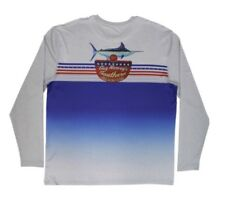 MEN'S GUY HARVEY SOUTHERN BBQ PRO UVX LONG SLEEVE SHIRT MARLIN