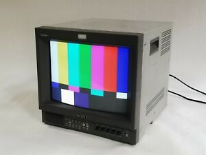 "Sony Trinitron PVM-14L2 14"" CRT Color BNC Retro Gaming Monitor w/BKM-120D Card"